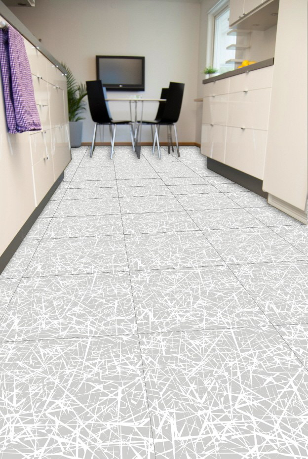 Messeboden mit Bodenfliese TopTile Bodenfliese TopTile Scratch