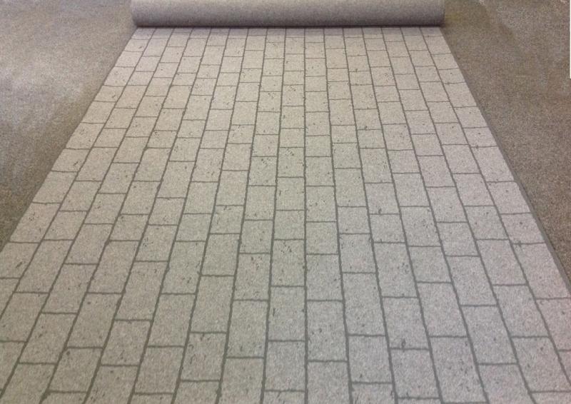 street paving der messeteppich in fotorealistischer pflaster optik. Black Bedroom Furniture Sets. Home Design Ideas